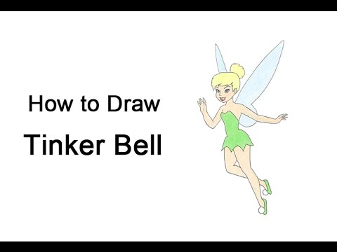 how to draw tinker bell full body