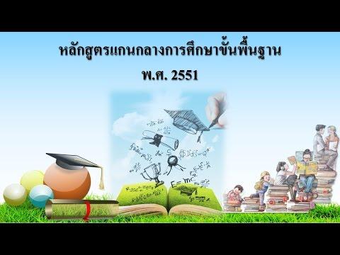 หลักสูตรแกนกลางการศึกษาขั้นพื้นฐาน 2551 (การวัดและประเมินผลการเรียนรู้)