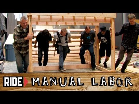 How-To Build a Skatepark - Quarter Pipe Part 5: Sheeting Plywood - Manual Labor