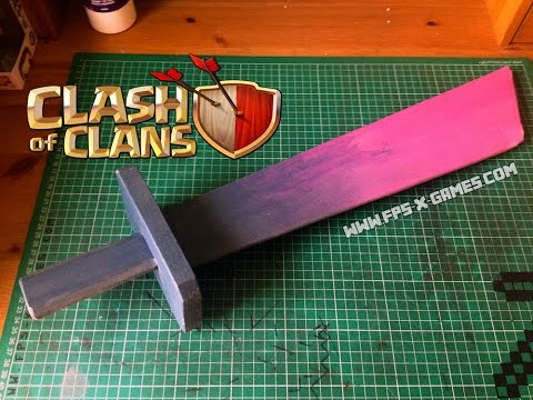 How to Make a Clash of Clans PEKKA Sword