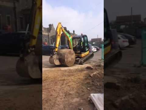A little bit to heavy, digger lift, stunts