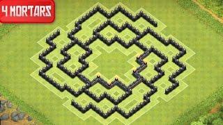 Clash of Clans - Town Hall 8 Farming Base (Polis) 4 Mortar - Speed Build