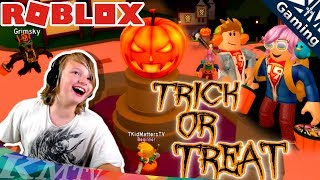 Roblox / Trick or Treat Simulator! Halloween Candy, Spooking+Chasing each other [KM+Gaming S03E012]