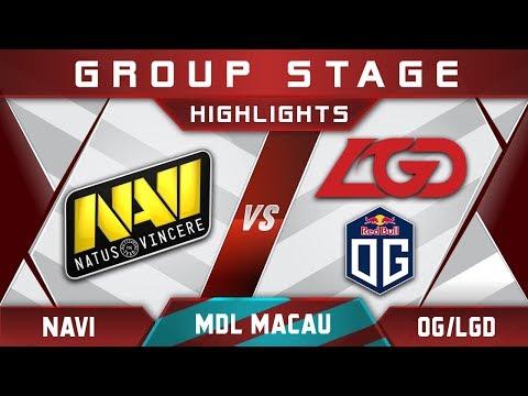 NaVi vs OG / LGD [EPIC] MDL Macau 2017 Minor Highlights Dota 2