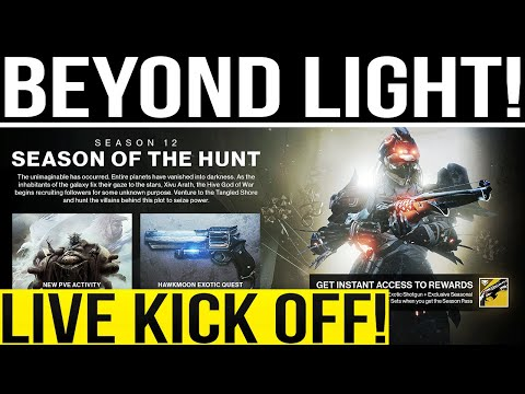 🔴LIVE! Destiny 2. BEYOND LIGHT KICK OFF! New Quest, Campaign, Missions, Exotics & More!