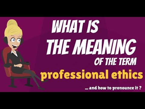 define professional ethics Professional definition, following an occupation as a means of livelihood or for gain: a professional builder see more.