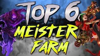 Top 6 Meiste Farm - Champions raten - League of Legends