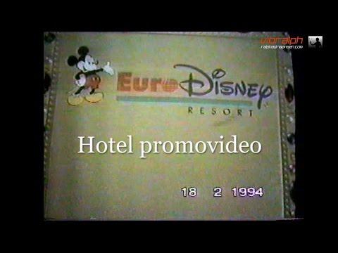 1994 Disneyland Paris Hotel Room TV Video NL