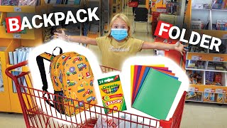 Everleigh Goes School Shopping In Alphabetical Order!!! CHALLENGE