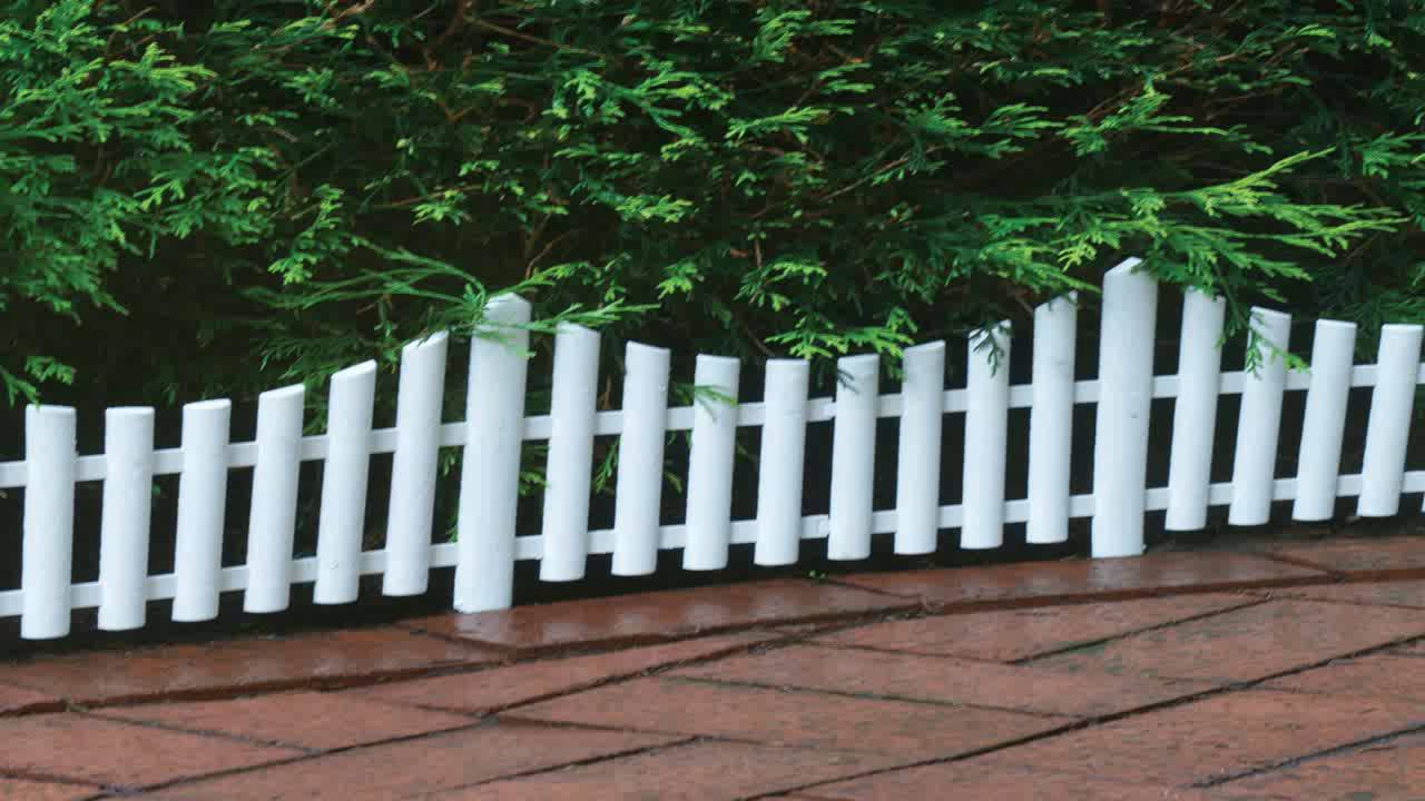 Flexible White Picket Fence Garden Borders Set Of 4