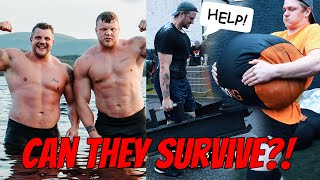 NORMAL PEOPLE TRY WORLD'S STRONGEST MAN TRAINING! ft.Mulligan Brothers