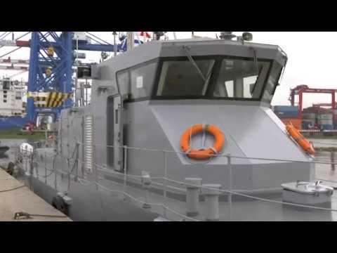La Chine fait don d'un patrouilleur à la Marine nationale ivoirienne.