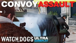 Watch_Dogs - Convoy Assault Gameplay - ULTRA (PC)