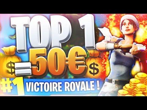 MUSHWAY ME DONNE 50 EUROS SI JE FAIS TOP 1 SUR FORTNITE BATTLE ROYALE !