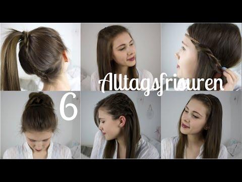 6 Einfache Schnelle Alltagsfrisuren Frisuren Für Schule Uni