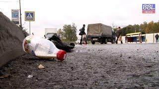 BBLnews. Грузовик снес автобусную остановку(, 2015-10-09T12:23:09.000Z)