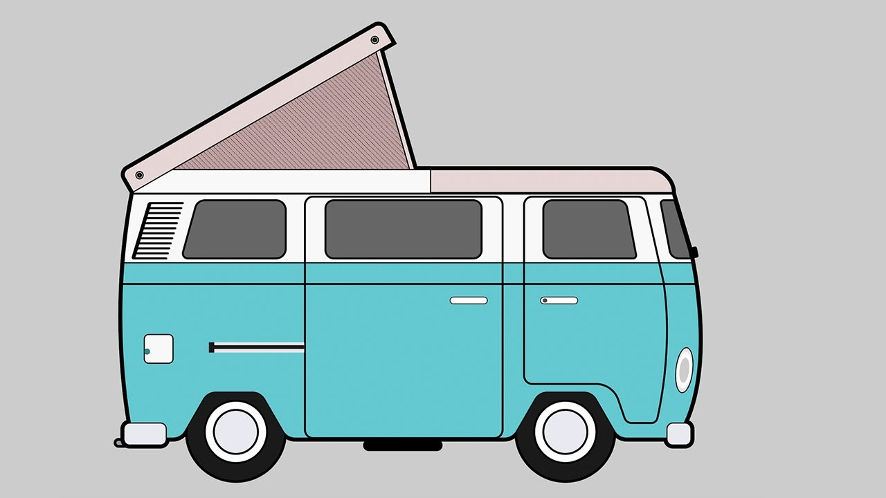 88 vw camper van drawing chalkboard drawing volkswagen vw camper van stretched mounted canvas. Black Bedroom Furniture Sets. Home Design Ideas