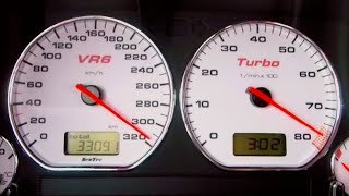 VW Golf 3 VR6 Turbo EXTREME Acceleration 0-300
