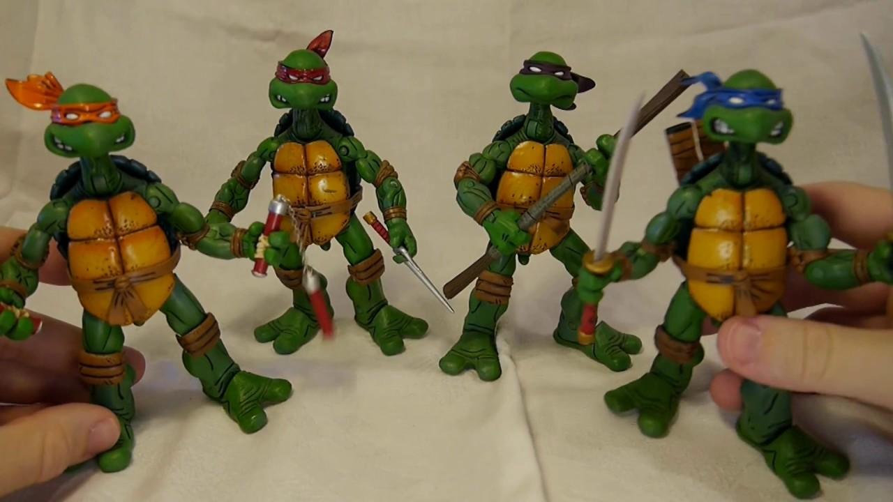 NECA TMNT Teenage Mutant Ninja Turtles Leonardo Movie Figure KO Knock Off *READ*