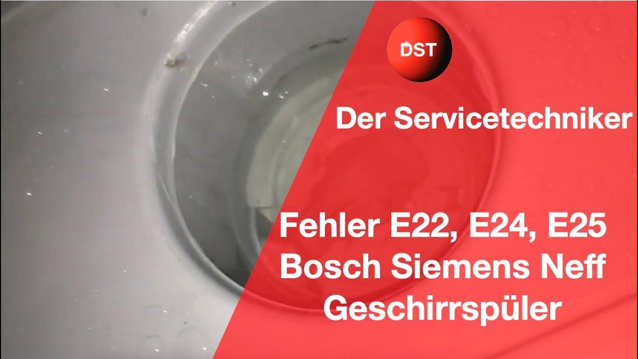 Bosch Siemens Constructa Geschirrspuler Zeigt E22 E24 Oder E25