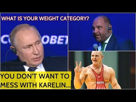 Putin Jokes With A Judo Banker: You Don't Want To Meet Russian Wrestling Legend Alexander Karelin!