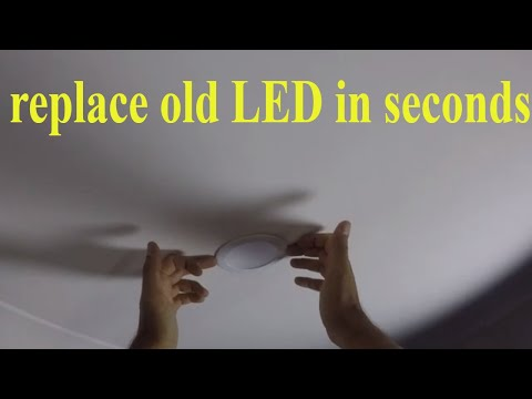 How To Replace LED Recessed Downlights - Remove And Install Downlight