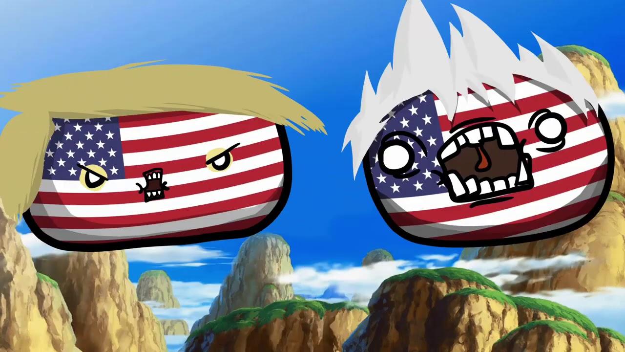 Trump and Biden debate - Countryball animation