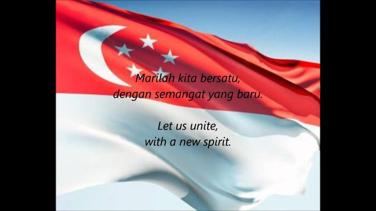 Singaporean National Anthem Majulah Singapura Ms En