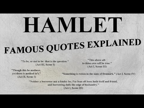 HAMLET - Most Famous Quotes EXPLAINED - AP LIT ENGLISH HONOR