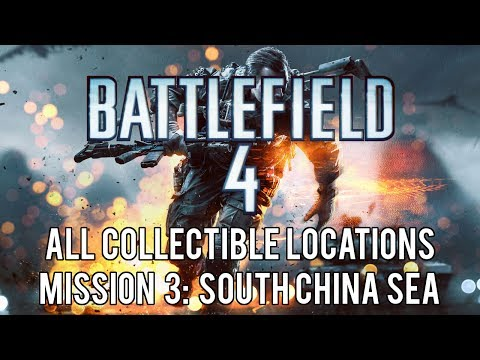 Battlefield 4 - All Collectible Locations (Weapons and Dog Tags) - Mission 3: South China Sea
