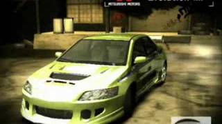 Need For Speed Most Wanted Tokyo Drift Cars