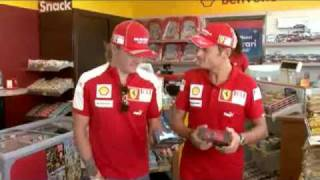 Shell Commercial Kimi Raikkonen and Giancarlo Fisichella