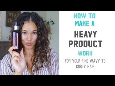 Quick fix for heavy product. Weighed Down Fine Wavy to Curly Hair - DIY thumbnail