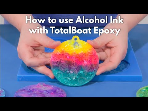 Using Alcohol Ink with TotalBoat Epoxy Resin for Resin Art
