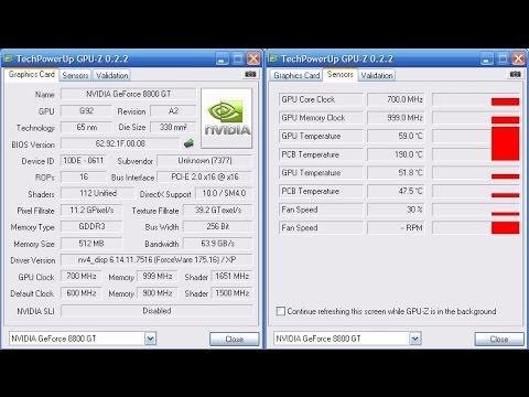GPU-Z : вся информация о вашей видеокарты. Бесплатная программа