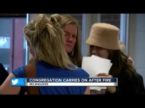 Trinity Evangelical Lutheran Church holds first service since fire