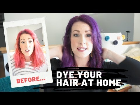 How To Dye Your Hair At Home With Pravana | Purple Hair Dye Tutorial