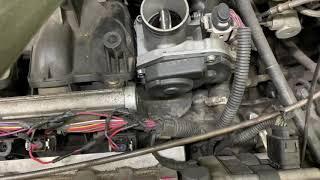 Замена дроссельной заслонки на VW GOLF