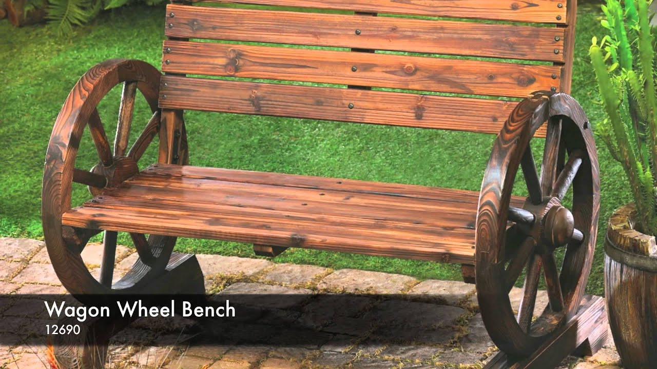 12690 - Wagon Wheel Bench - YouTube