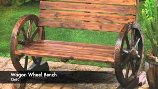 12690 - Wagon Wheel Bench