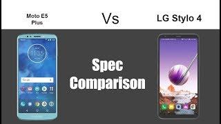 Moto E5 Plus vs LG Stylo 4 - Spec Comparison