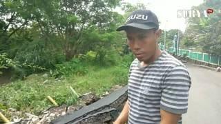 Jembatan di Jalan Raya Ngemplak Kecamatan Sambikerep Ambles
