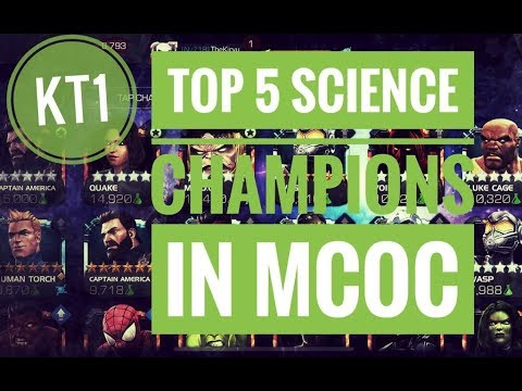 Mcoc Best Science Champs 2019 TOP 5 Science Champions In MCOC!   June 2019   YouTube