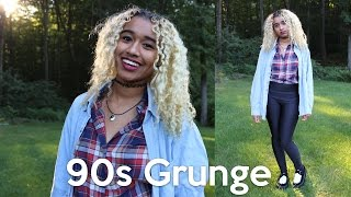 90s Grunge Makeup, Hair, and Outfit Tutorial | OffbeatLook