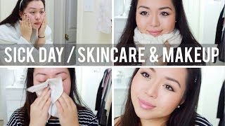 Sick Day Routine | Skincare & Makeup ♡ Thumbnail