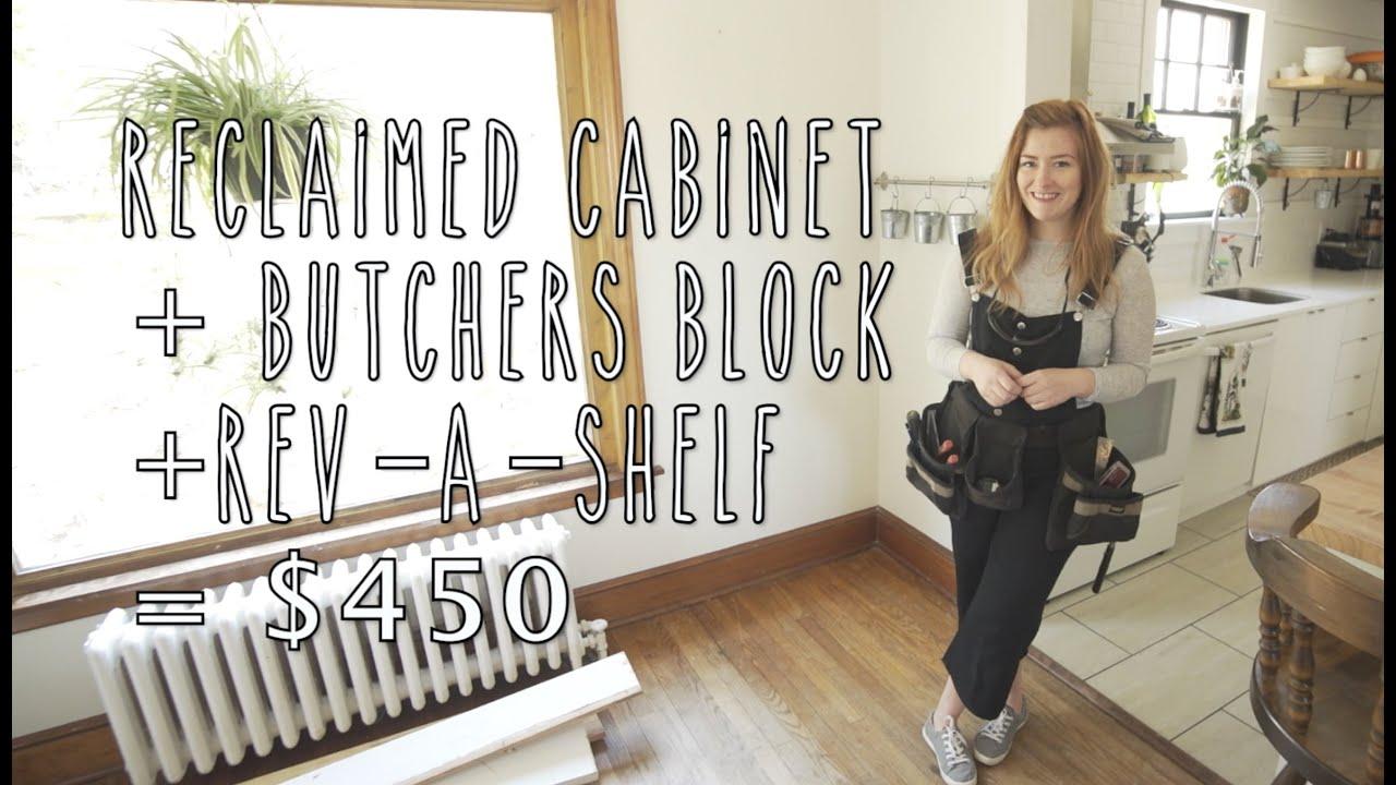 butcher block rev a shelf perfect waste solution youtube
