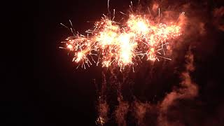 【4K】2018 土浦花火・事故で中止・怪我人発生 中止前最後のスターマイン バブリー$ノスタルジー 田島煙火 nrthhh