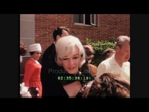 RARE Colour Footage Of Marilyn Monroe At The Christening of Clark Gables Son