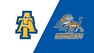 2018 MEAC Football: North Carolina A&T Aggies vs  Savannah State Tigers