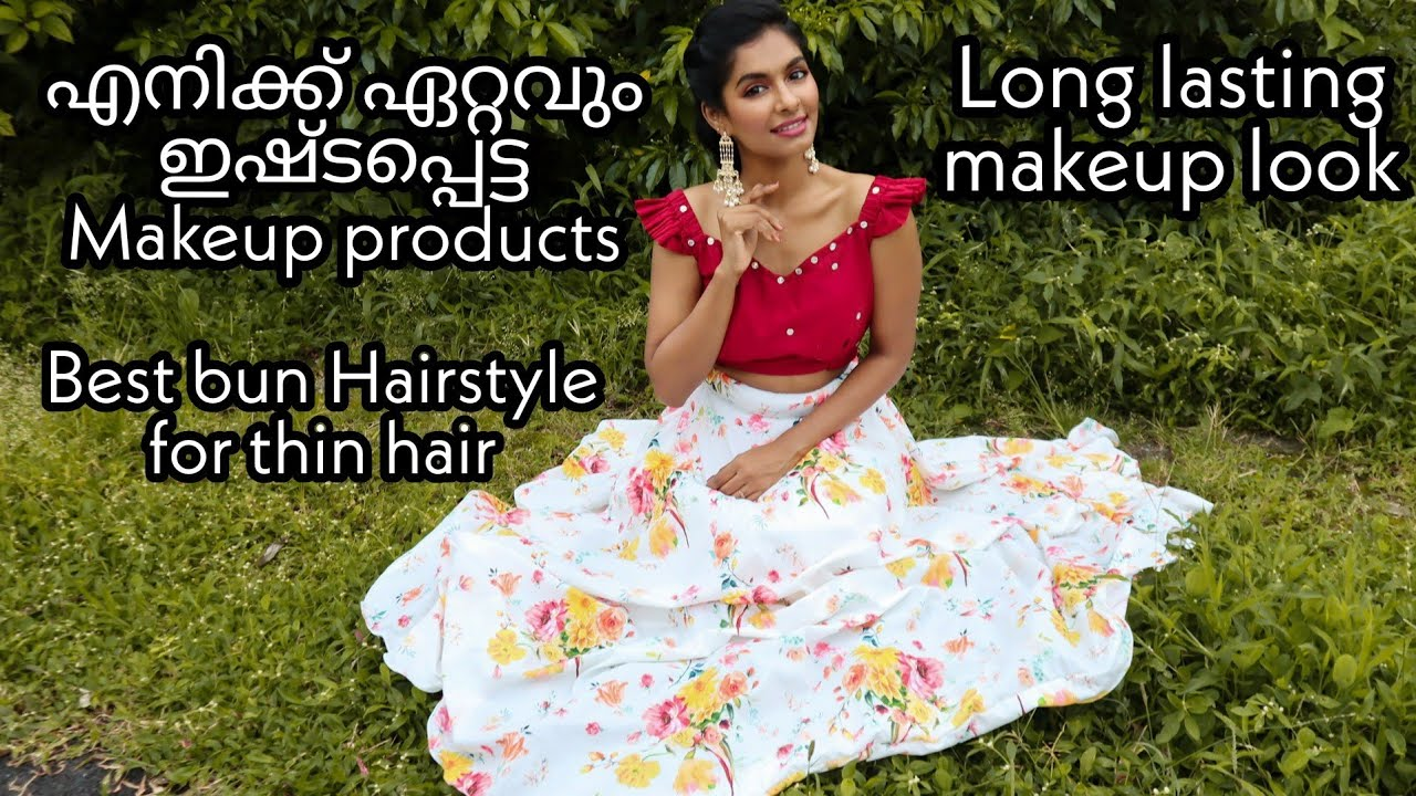 Wedding guest makeup & hairstyles(for thin hair)|MUST TRY MAKEUP PRODUCTS OF ALL TIME|Asvi Malayalam